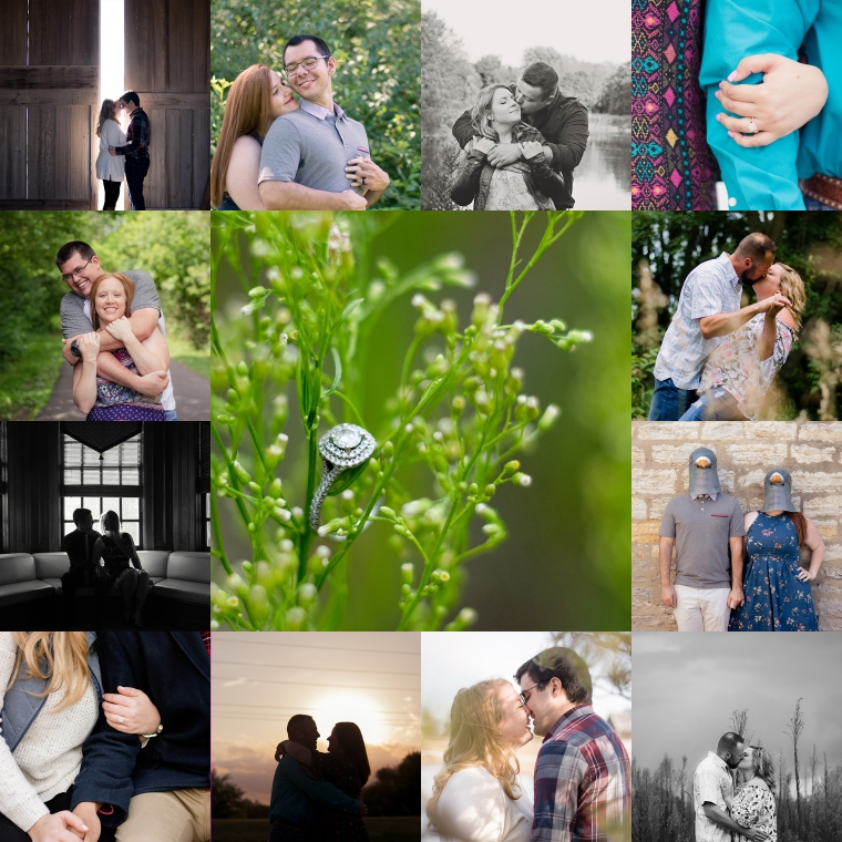 Photo Whimsy by Megan Engagement Collage